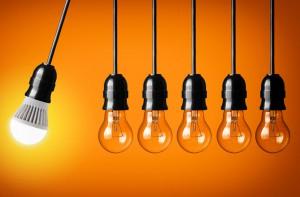 Eine LED-Lampe liefert bei drei bis fünf Watt so viel Licht wie eine klassische Glühbirne von 25-Watt