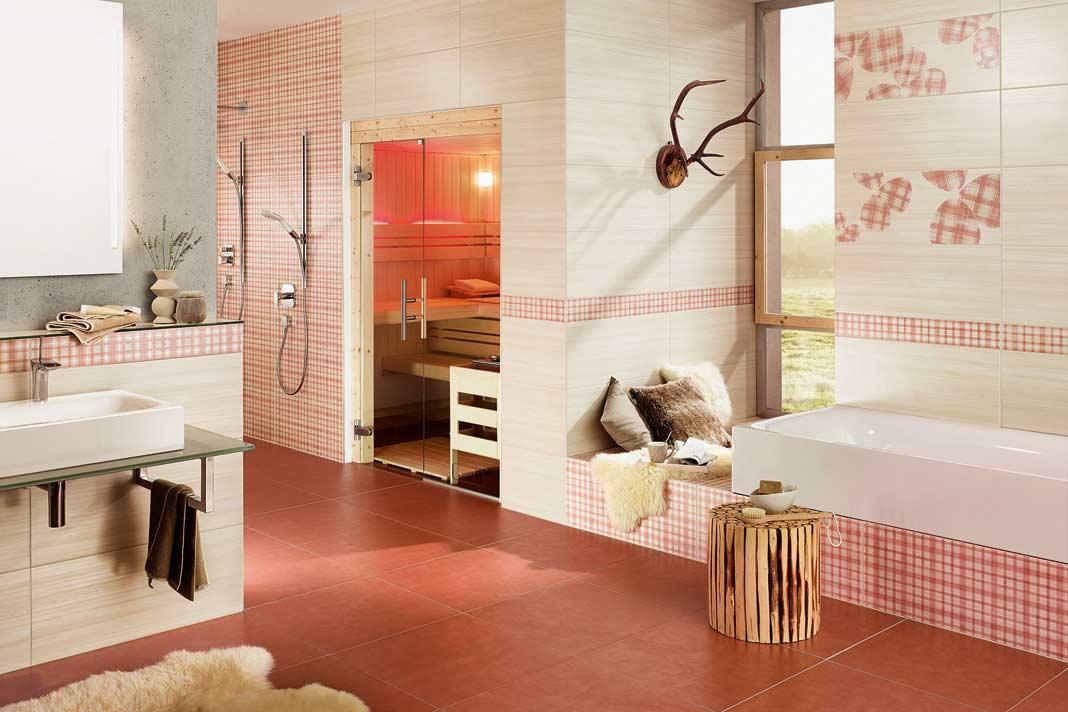 Bad im Landhausstil, auf ganz leichte, freundliche und helle Art.