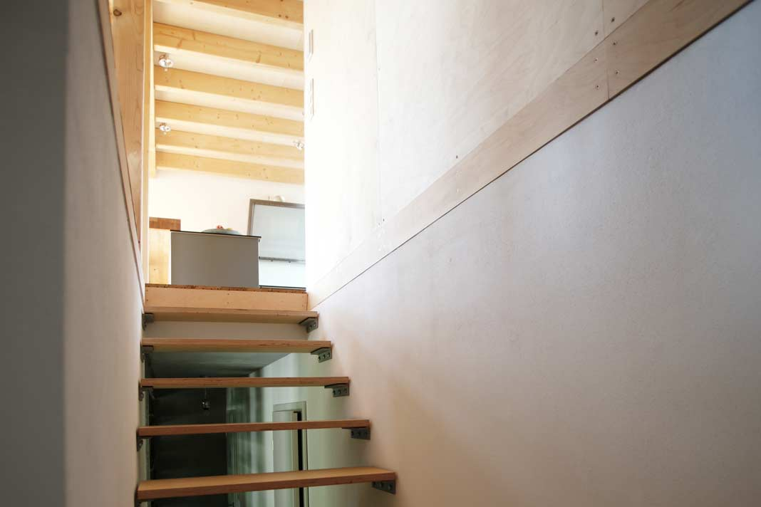 Schlicht, aber überzeugend: die Treppenanlage im Wohnbereich.