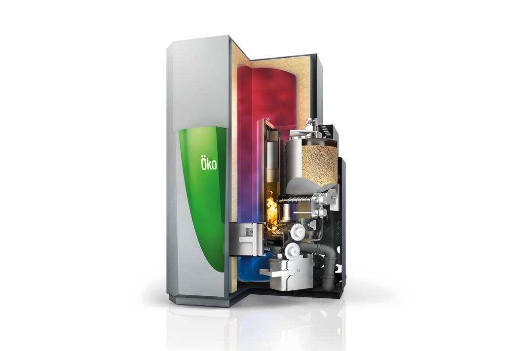 Ein Pelletkessel liefert Wärme vollautomatisch und bei Bedarf feindosiert.