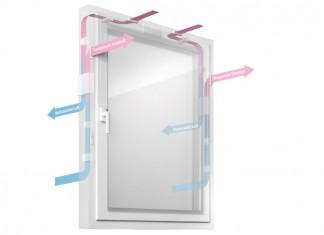 Das Klimafenster 4.0 vereint mehrere Funktionen in einem Bauelement: Lüften, Wärmerückgewinnung und Heizen. Foto: Schüt-Duis