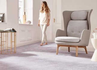 """Der neue Teppichboden """"Fascination"""" überzeugt auch durch seine Farbkomposition. Foto: Vorwerk"""