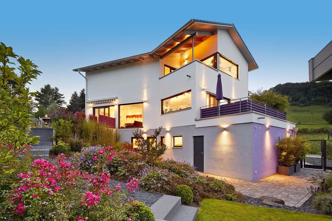 Das Traumhaus sollte in einem frischen, modernen Stil erscheinen und über eine Loggia verfügen.