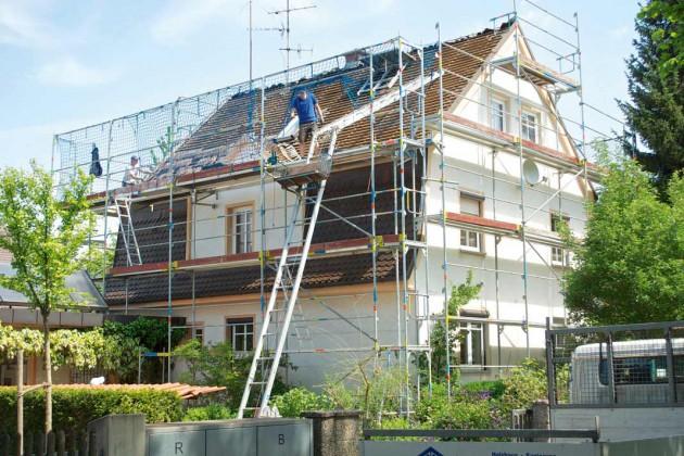 Das Mansarddach hatte eine Sanierung dringend nötig.