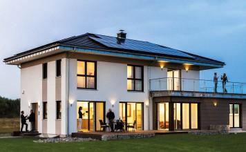 Bei allen KAMPA Häusern handelt es sich um Plus-Energie Häuser, das bedeutet, sie versorgen sich mit selbst erzeugtem Strom.