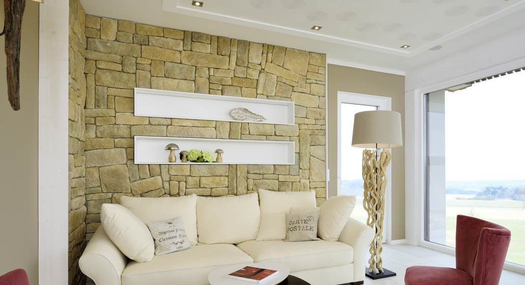 Natursteinmauern sorgen für ein angenehmes Ambiente.