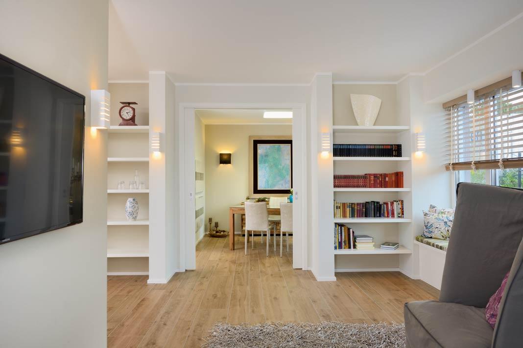 Das Konzept einer modernen Raumaufteilung wurde perfekt umgesetzt.