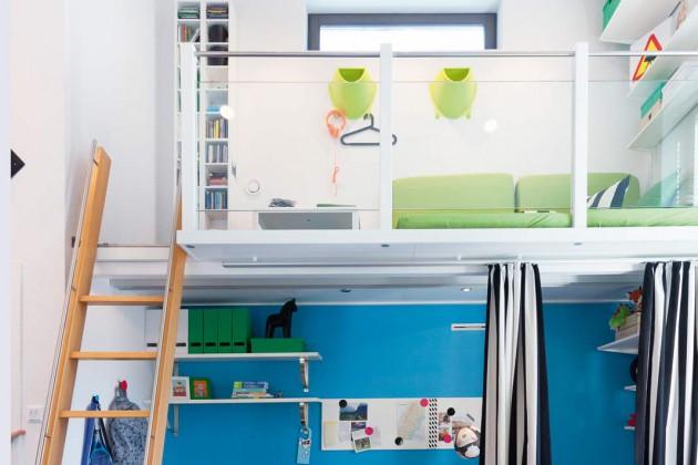 Die Galerie als Schlafplatz oder Kuschelzone.