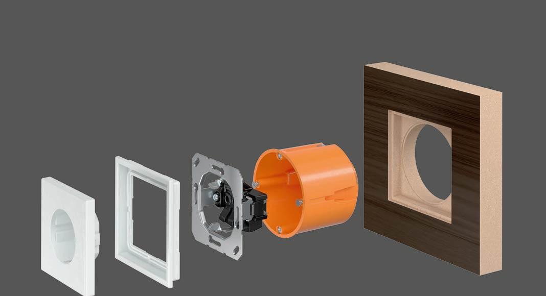 Einsatz im Möbelbau: Mit LS ZERO wird die Elektroinstallation jetzt zum gestalterischen Element des Möbeldesigns.