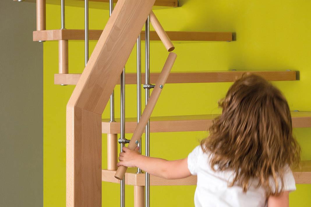 Das CE-Zeichen verbürgt die Einhaltung europäischer Sicherheitsstandards bei einer neuen Treppe.