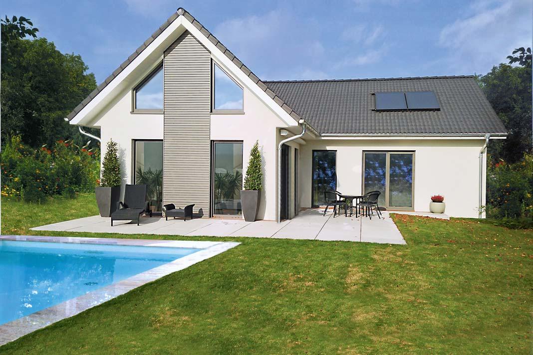 Der architektonisch anspruchsvolle Entwurf steht für modernes, helles und lichtes Wohnen.