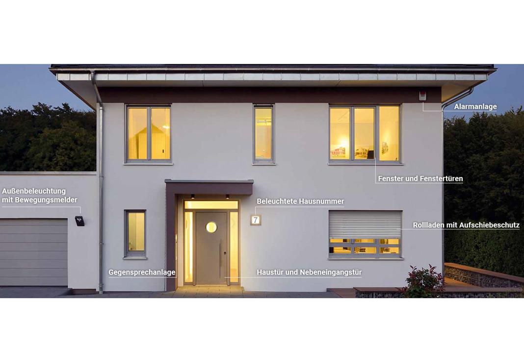 Der Schutz und die Sicherheit der Hausbewohner ist ein wichtiges Thema. Hier sorgt Kampa für ein solides Sicherheitskonzept in seinen Häusern. Foto: Kampa