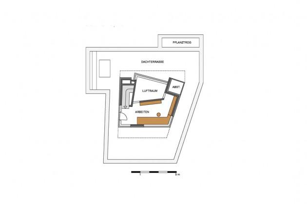 Bauplan Staffelgeschoss.