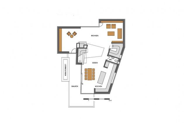Bauplan Wohngeschoss.