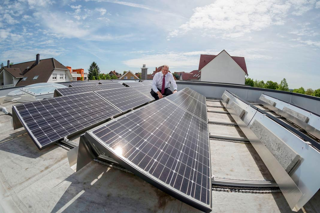 Die Photovoltaikanlage fährt im Jahr 15.000 Kilowattstunden ein.