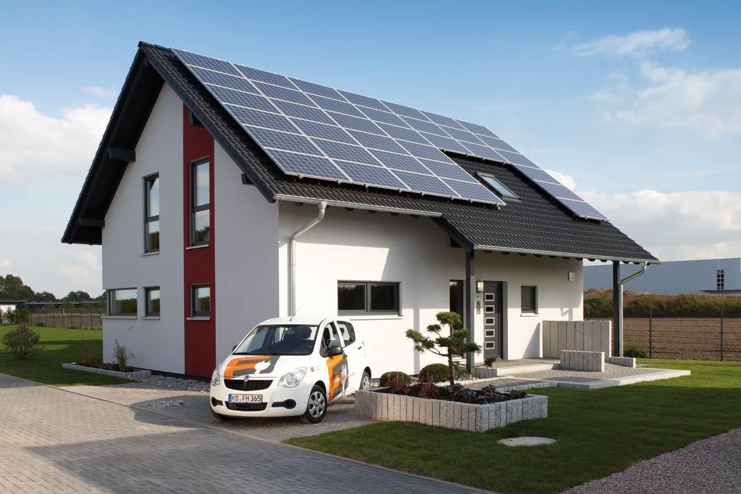 Energieplus Haus Konzept.