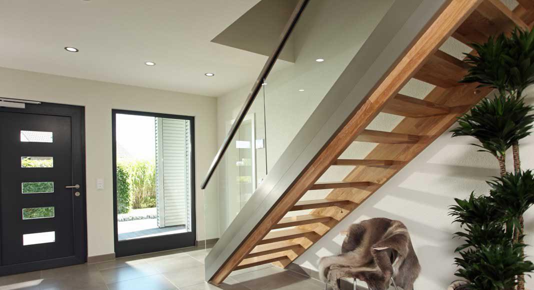 Einläufige Treppe.