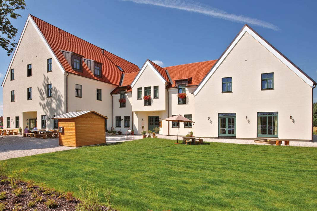Mehrfamilienhäuser in Holzbauweise.