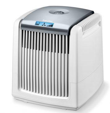 Der Luftwäscher LW 220 bietet Luftbefeuchtung und –reinigung in einem Gerät, Pollen werden aus der Luft gefiltert. Foto: Beurer