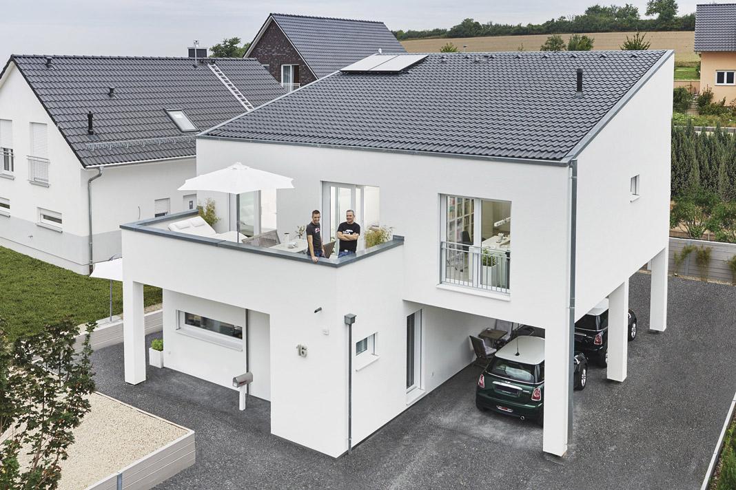 pultdach macht das haus zum unikat livvi de. Black Bedroom Furniture Sets. Home Design Ideas