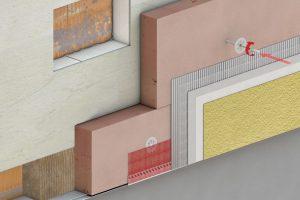 WDV System zur Aufdopplung bereits gedämmter Fassaden. Foto: Baumit