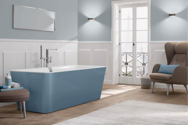 icht nur Waschtisch und Möbel, sogar Wannen beleben nun mit frischen Farben das Bad.