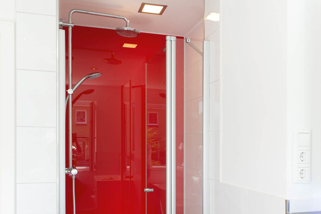Licht in der Dusche – keine schlechte Idee.