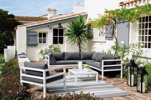 """Gartenpolstermöbel-System """"Riviera"""" besteht aus einzelnen Modulen."""
