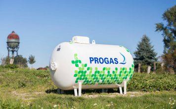 Der Behälter für Flüssiggas wird nun zum Designobjekt. Foto: Progas