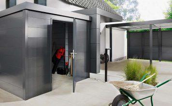 Fahrräder, Rasenmäher, Kinderwagen, Spielsachen und vieles mehr müssen sicher und griffbereit verstaut werden. Dafür ist ein Gerätehaus die perfekte Lösung.