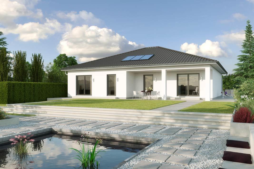 La Rochelle WL 40 mit Walmdach und 140,38 m² Raumgrundfläche ausstattungsfertig ab 224.000 Euro.