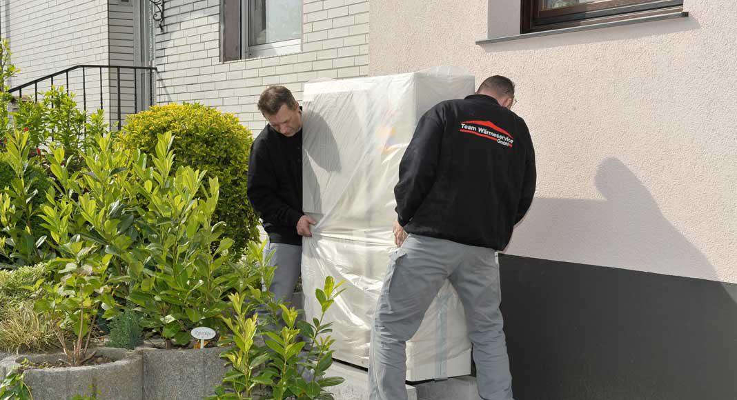 Außengerät kann flexibel auf dem Grundstück installiert werden.