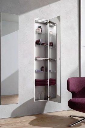 Bei kleinen Räumen besser in die Höhe als in die Breite planen.