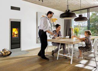 Das KfW-förderfähige Ofen-/Abgassystem King-Fire vereint Kaminofen und Abgasanlage mit integrierter Verbrennungsluftzufuhr in einem einzigen Komplettbauteil.