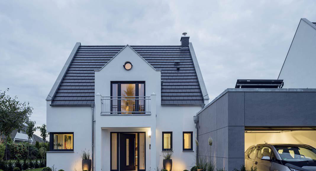 Beim Hausbau wurde KfW-Effizienzhaus-Standard 40 erreicht.
