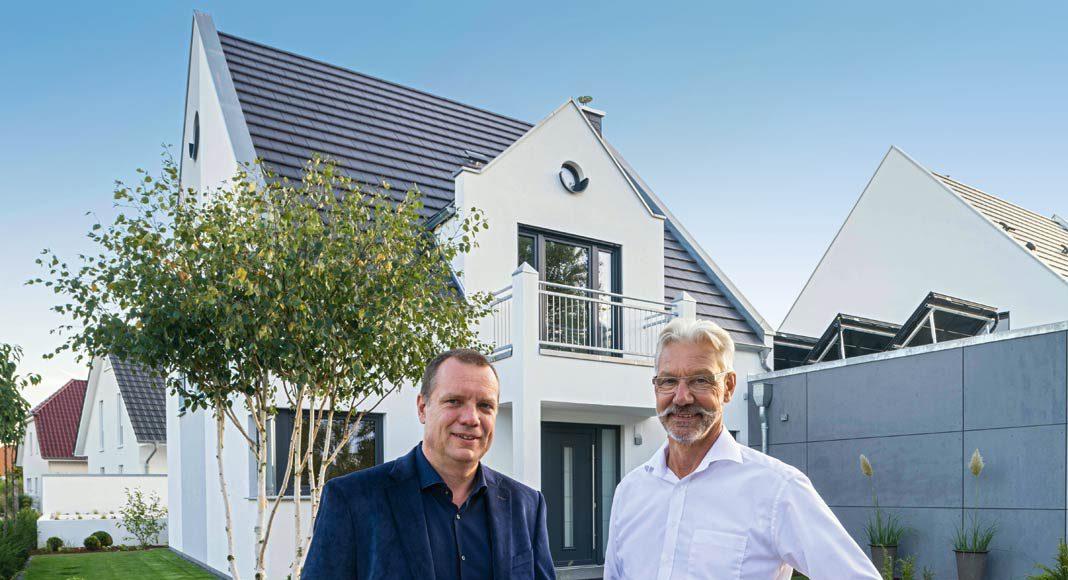 Die beiden Geschäftsführer des Rostocker Unternehmens ARGE-Haus.