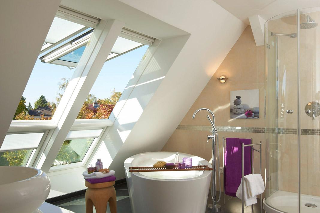 Die schönsten Ideen fürs Bad im Dachgeschoss. » LIVVI.DE