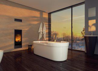 Der Ofen Kingfire zeichnet sich durch seinen platzsparenden Einbau und sein Design aus. Foto: Schiedel