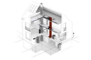 Eine hygienisch saubere und einfach einzubauende Komfortlüftung fürs Einfamilienhaus. Foto: Erlus