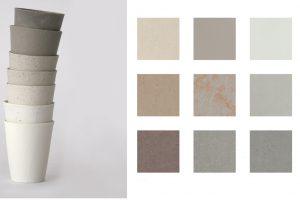 """Die """"Scandinavian Collection"""" bildet Linoleum in 19 ganz unterschiedlichen Grautönen ab. So gibt es warme und kühle, helle und dunkle Grautöne, Unifarben, leicht strukturierte Dessins oder edle Optiken changierend mit Bronze. Foto: DLW Flooring"""