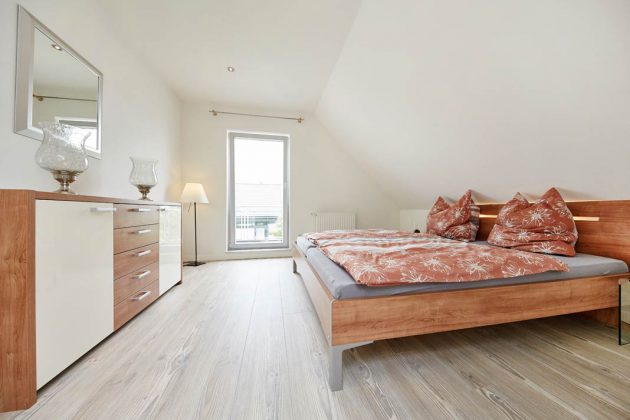 Der Drempel bringt Vorteile für die Möblierung des Dachgeschosses.