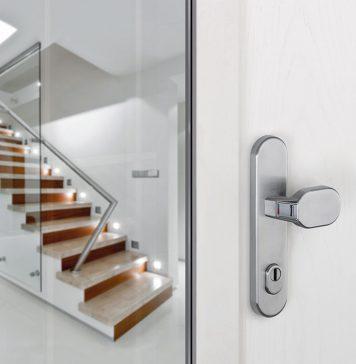 Für die Haustür ist kein Schlüssel mehr nötig. Geöffnet wird nun per Fingerscanner. Foto: Hoppe