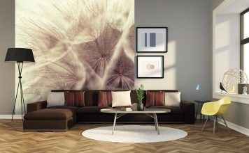 Pusteblume – ein Motiv, das auf einer großen Fototapete richtig cool wirkt. Foto: K&L Wall Art