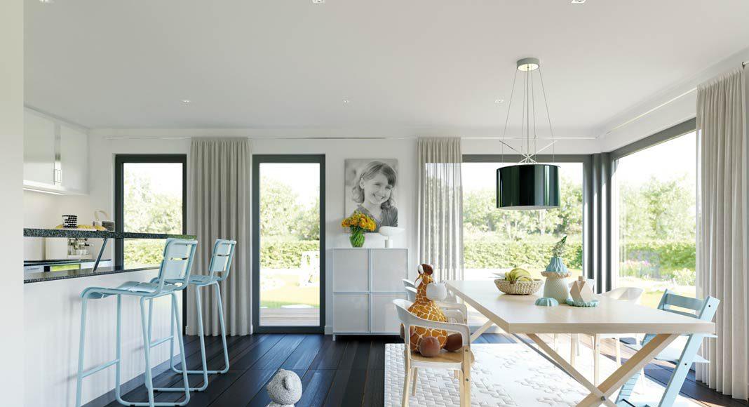 Bei einem Ausbauhauskonzept haben Baufamilien noch mehr Möglichkeiten, ihren ganz persönlichen Stil umzusetzen.