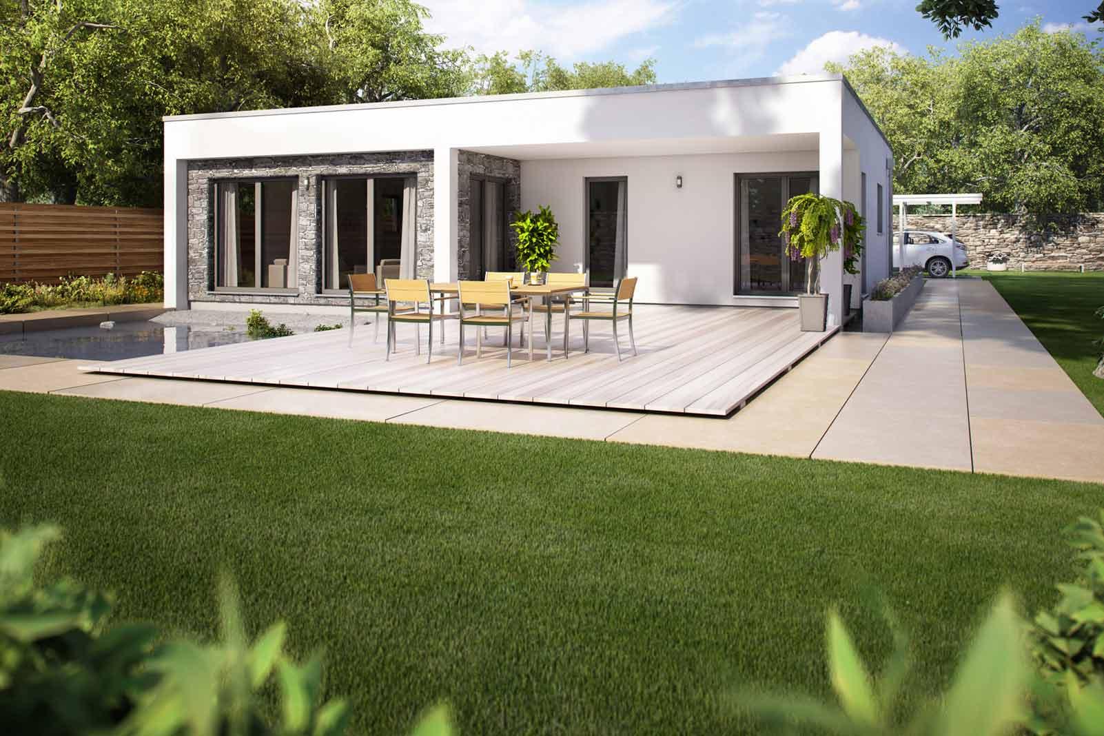 der bungalow – das ideale haus für ein leben im einklang mit der, Wohnzimmer dekoo
