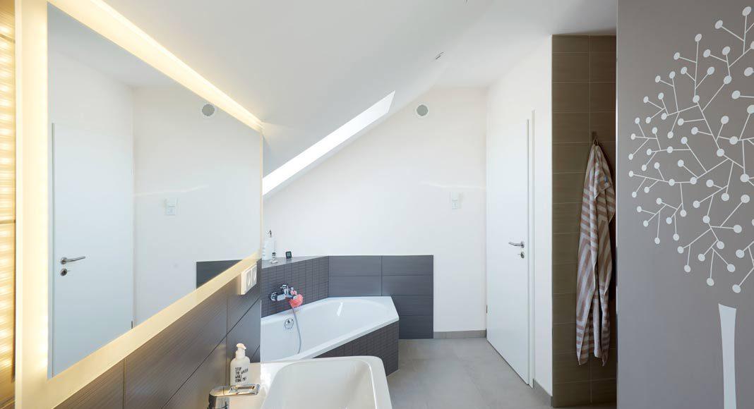 Räume im Dachgeschoss optimal nutzbar.