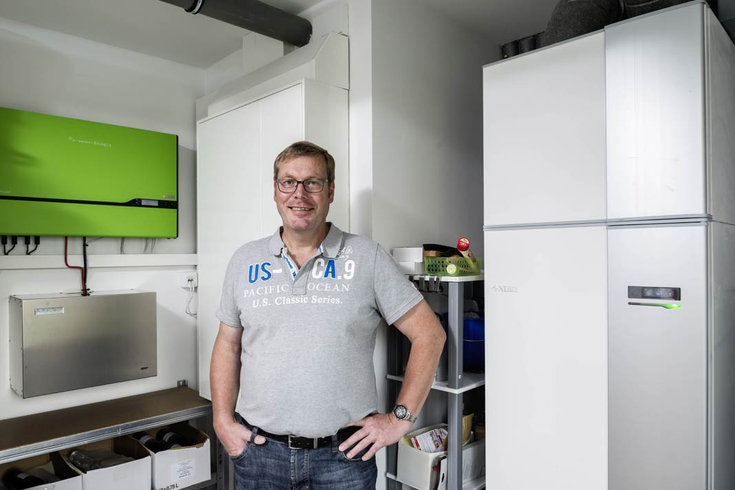 Wärmepumpe, Photovoltaikanlage und Hausbatterie.