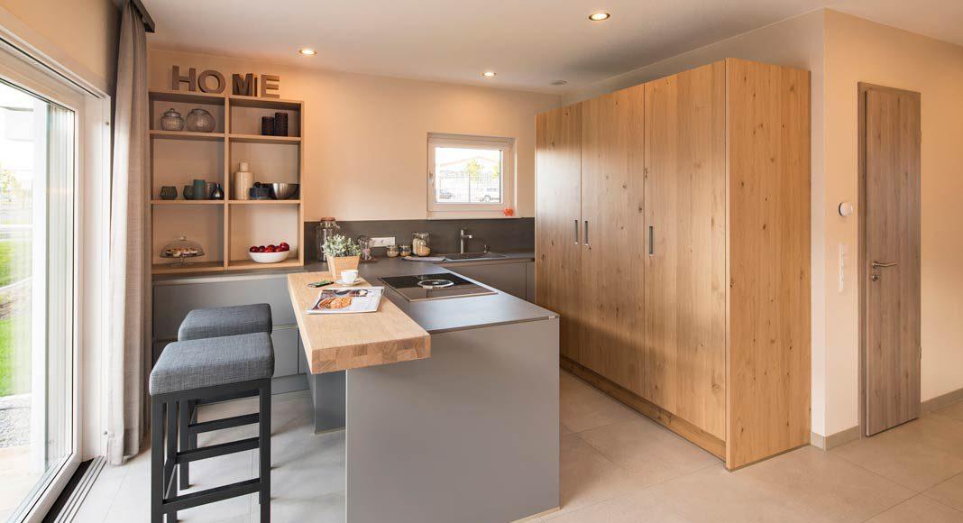 Sind die Schranktüren geschlossen, macht die Küche sofort einen aufgeräumten Eindruck.