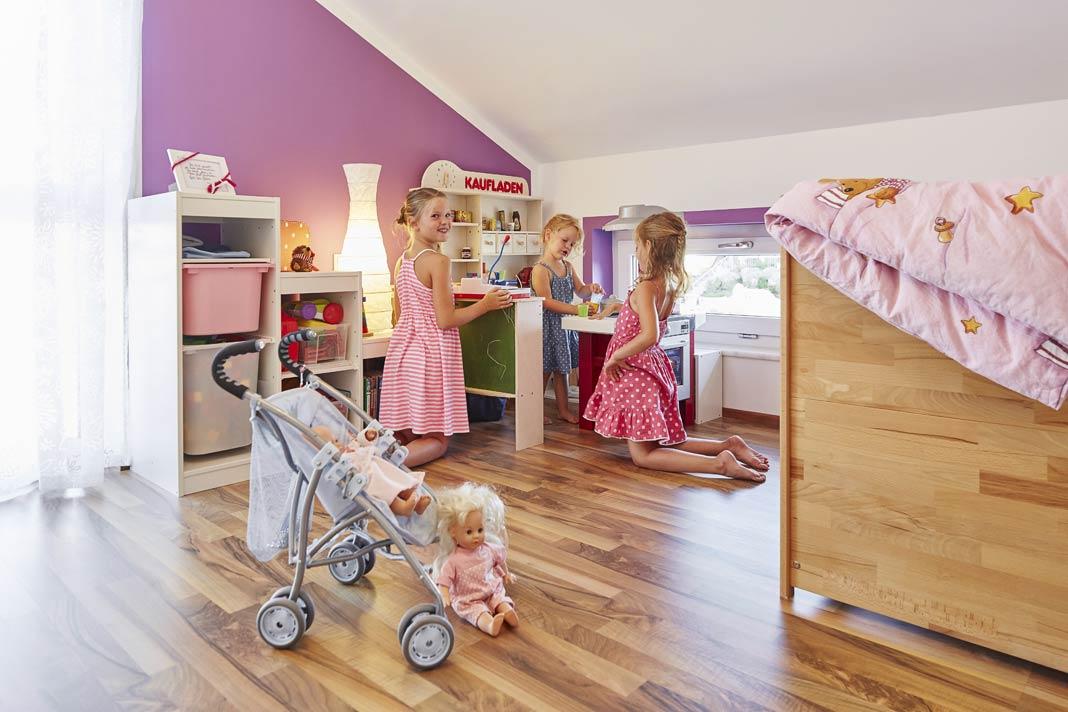 Eigenes Zimmer für die Kinder.