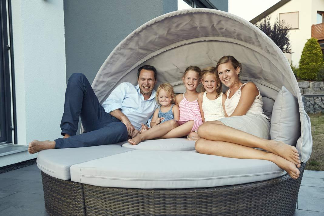 Eine glückliche Familie.